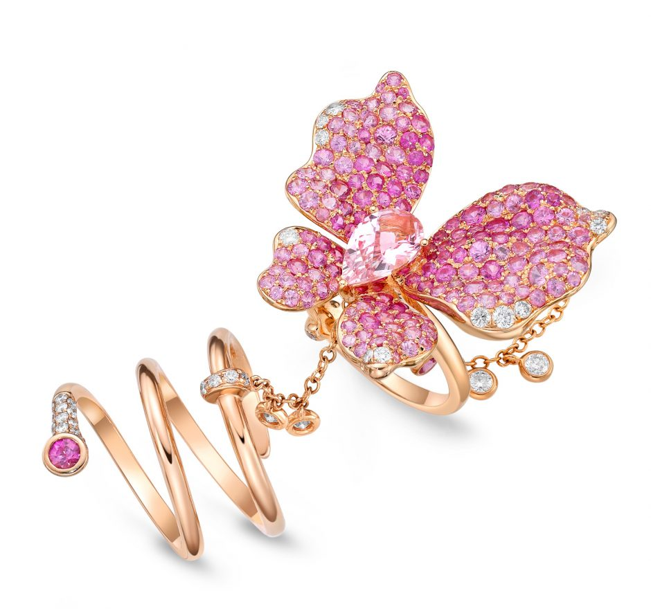 Butterfly My Love Morganite Ring